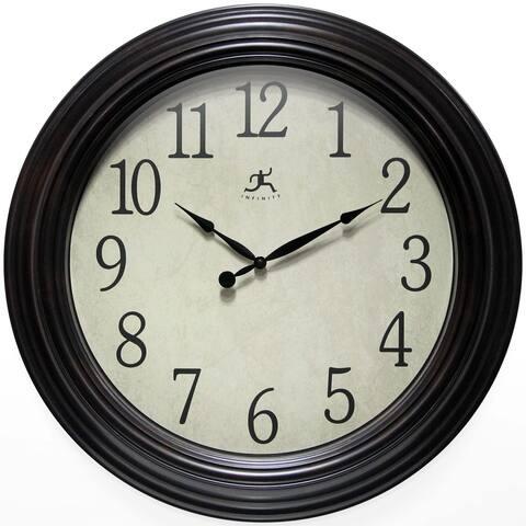 Classic Indoor 23 inch Decorative Brown Indoor Wall Clock