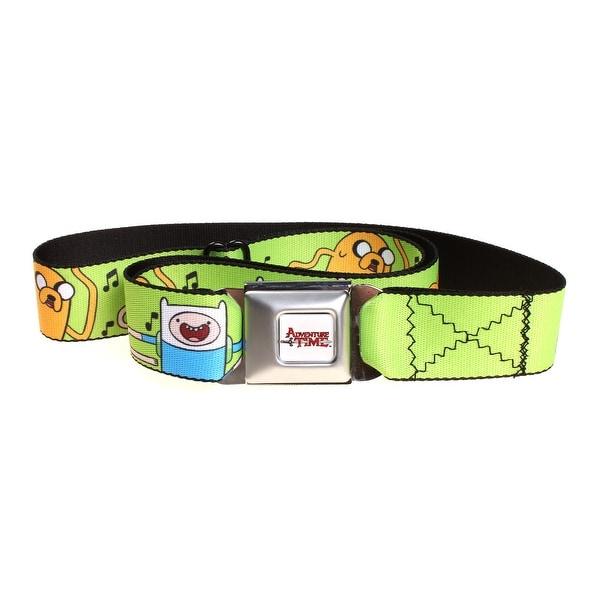 Adventure Time Green Dancing Finn & Jake Seat Belt Buckle Belt-Holds Pants Up
