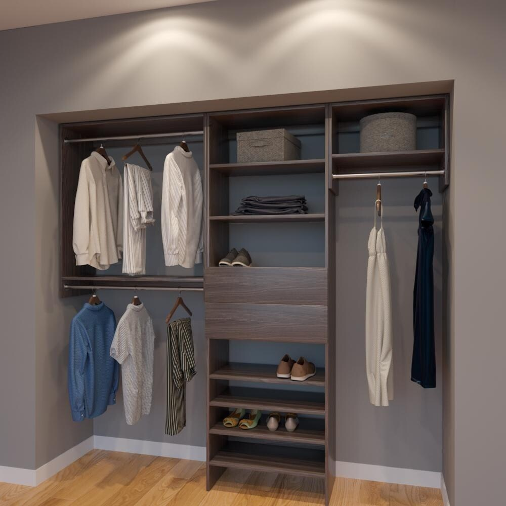 Shop Modular Closets 7 5 Ft Closet Organizer System 90 Inch