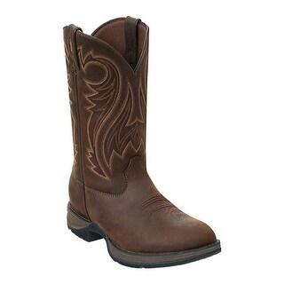 """Durango Boot Men's DB5464 12"""" Rebel Chocolate Wyoming"""