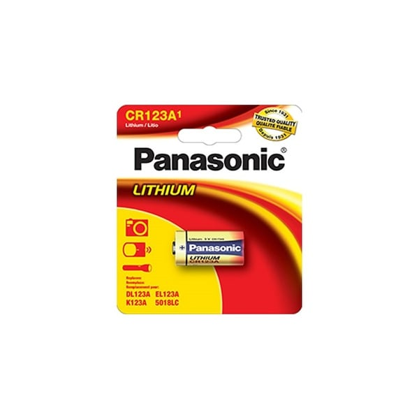 Panasonic CR-123APA/1B Panasonic CR123A Photo Lithium Battery Pack - 3V DC