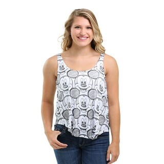 Mickey Mouse Drawn Allover Print Juniors Racerback