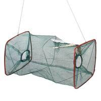 "Unique Bargains 17"" x 8.6"" Portable Fishing Landing Net Fish Angler Mesh Keepnet for Fishermen Green"