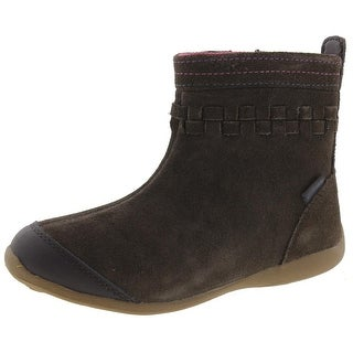 Stride Rite Girls Patricia Ankle Boots Woven Suede