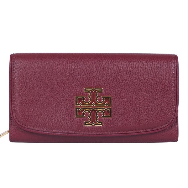 b0bcf3930b4 Shop Tory Burch Britten Duo Envelope Continental Red Leather Wallet - Free  Shipping Today - Overstock - 22697650