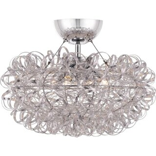 """Platinum PCPG1716 Pageant 3 Light 15-3/4"""" Wide Semi-Flush Ceiling Fixture with a"""