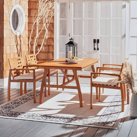 Safavieh Outdoor Living Venly 5-Piece Natural/ Beige Dining Set