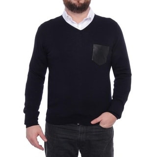 The Kooples Long Sleeve V-Neck Sweater Men Regular Sweater Top