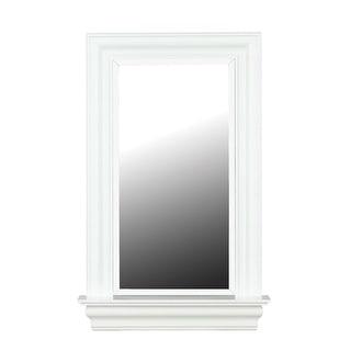 Kenroy Home 60028  Juliet Beveled Rectangular Mirror - White Gloss