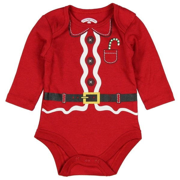 Assorted Santa, Reindeer Baby Boys & Girls Christmas Bodysuit Dress Up Outfit