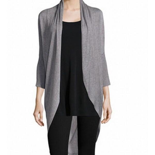 0930cbd34539c7 Shop Eileen Fisher NEW Gray Womens Size XL Cocoon Flyaway Cardigan ...