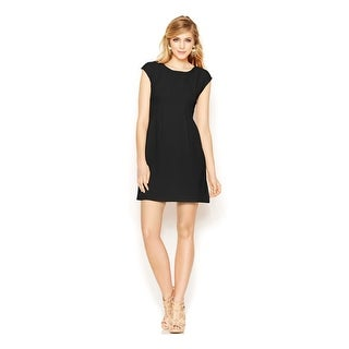 Link to BAR III Black Cap Sleeve Above The Knee Sheath Dress  Size S Similar Items in Dresses