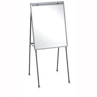 Lorell LLR75684 Dry-Erase Board Easel- Rubber Feet- 40in.-70in.- Black