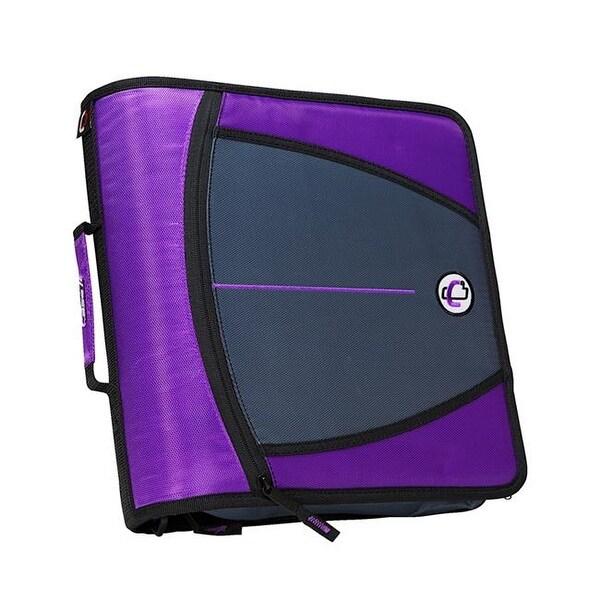 shop case it 1580683 3 in mighty zip tab o ring binder purple