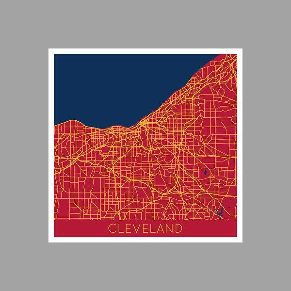 Cleveland Cavaliers   NBA Color City Maps Matte Poster 24x24