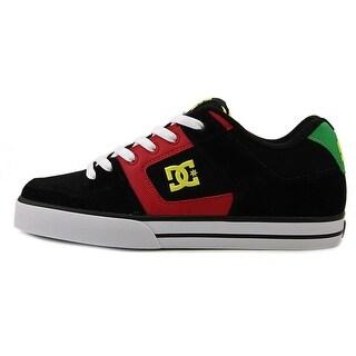 DC Shoes Pure Men Round Toe Leather Black Skate Shoe