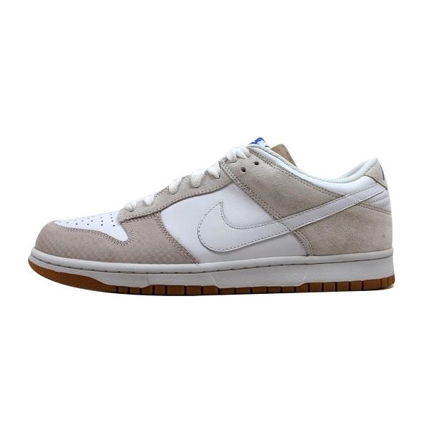 Nike Men's Dunk Low White/White-Medium Blue 311730-117