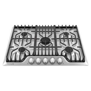 Frigidaire FPGC3077R 30 Inch Wide Built-In Gas Cooktop with Power Burner and Cast Iron Grates