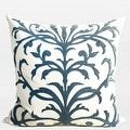 """G Home Collection Luxury Sky Blue European Pattern Embroidered Pillow 22""""X22"""" - Thumbnail 0"""