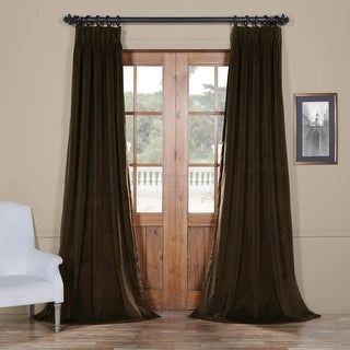 Exclusive Fabrics Signature Pinch-pleated Blackout Solid Velvet Curtain Panel