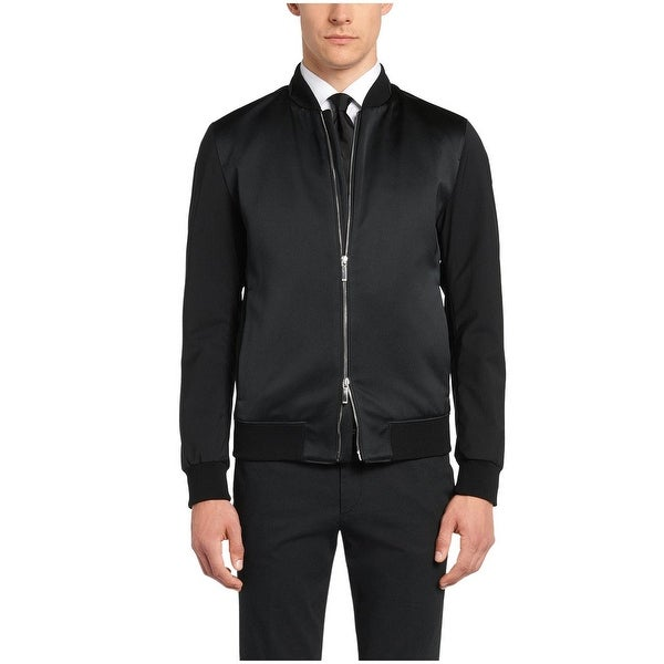 hugo boss bomber jacket black