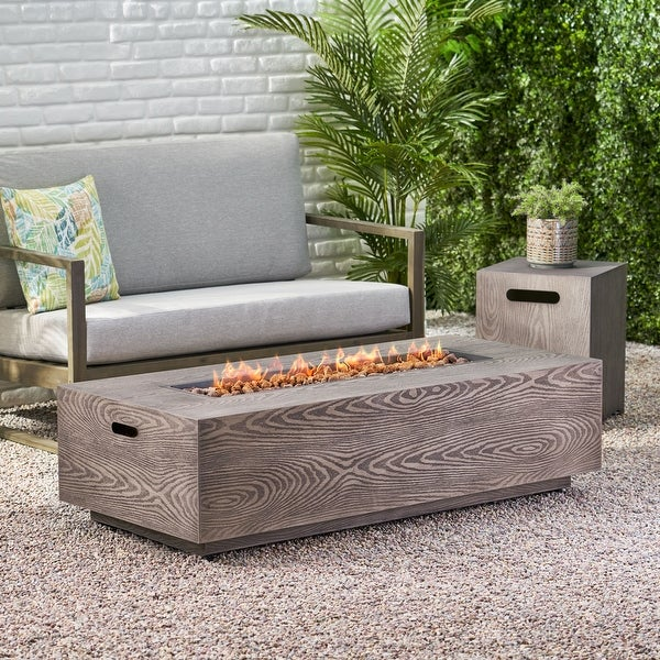 """Senoia Outdoor 56"""" Outdoor 50,000 BTU Rectangular Fire Pit with Tank Holder by Christopher Knight Home. Opens flyout."""