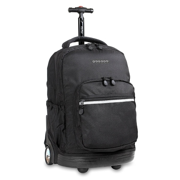 J World New York Sunny Rolling Backpack, Black