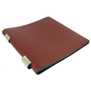 Red Leather Scrapbook Album