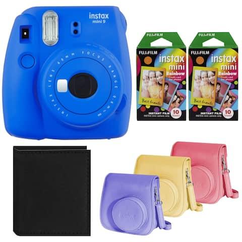 Fujifilm Instax Mini 9 Instant Camera (Cobalt Blue) Bundle