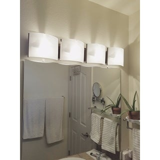 Contemporary 4 Light Chrome Bath Vanity Fixture Free Shipping Today 15844975