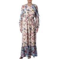 Juicy Couture Black Label Womens Maxi Dress Floral Print Georgette