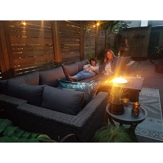 Corvus Sevilla 7-piece Outdoor Wicker Furniture Set with Cushions