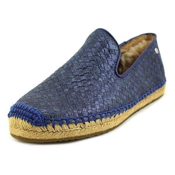 Ugg Australia Sandrinne Metallic Basket Women Round Toe Leather Blue Espadrille