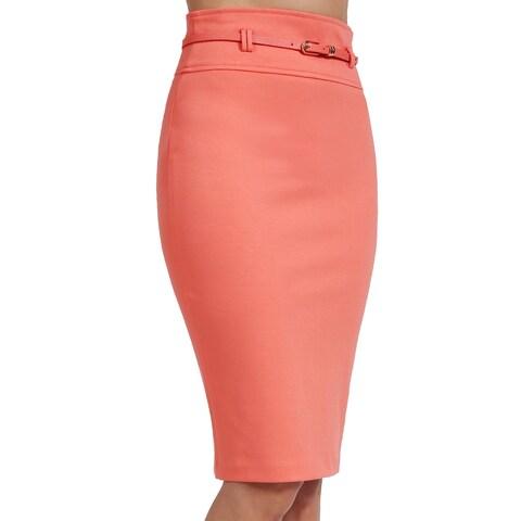 NE PEOPLE Womens Knee Length Office Pencil Skirts with Belt-NEWSK35