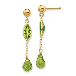 Link to 14K Yellow Gold Peridot Post Earrings by Versil Similar Items in Earrings