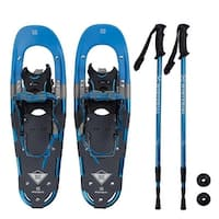 Winterial Back Trail Snowshoes / Recreational Snowshoes / Snowshoeing / Rolling Terrain Snowshoes / POLES INCLUDED!