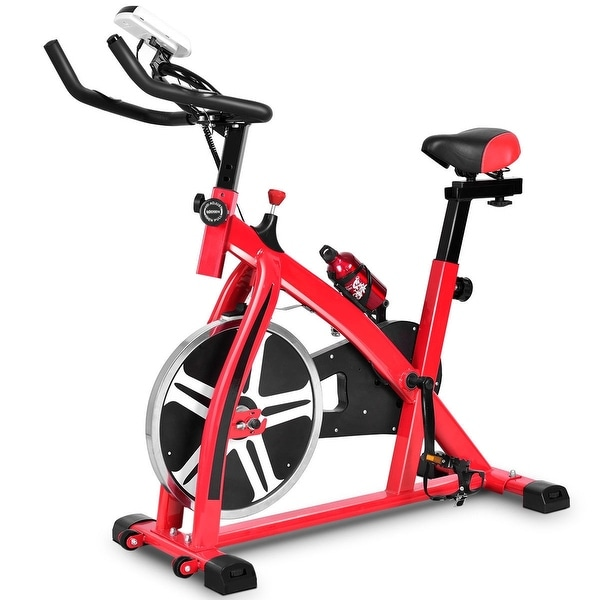 Adjustable Exercise Bicycle Cycling Cardio Fitness with 18 lbs Flywheel. Opens flyout.