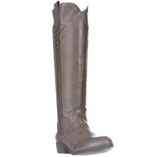 MIA Crossingss Knee-High Boots - Taupe