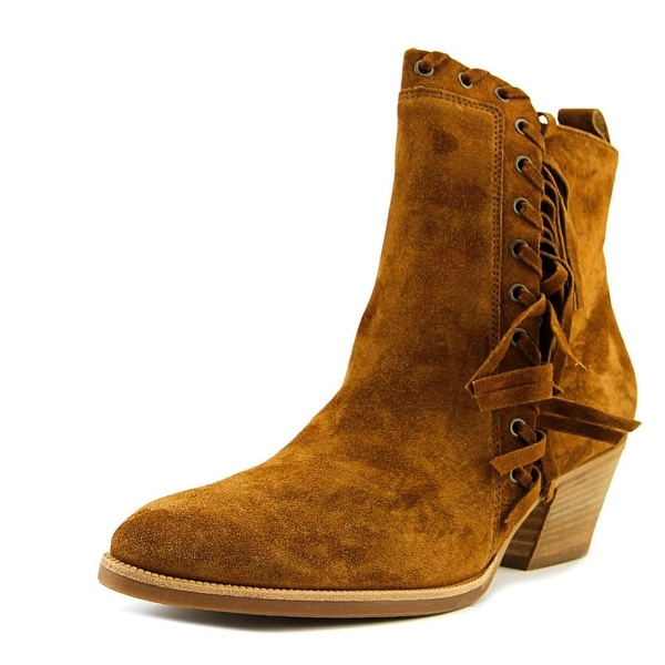 Paul Green Stiefelette Women Round Toe Suede Brown Ankle Boot