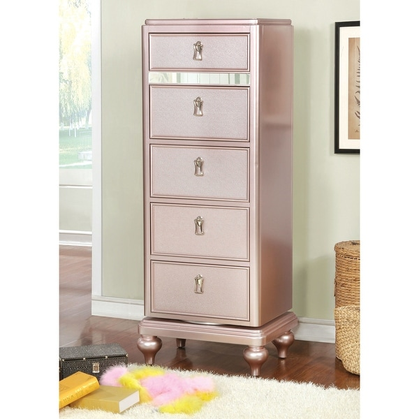 Copper Grove Dzhebel I Transitional 5-drawer Swivel Chest. Opens flyout.