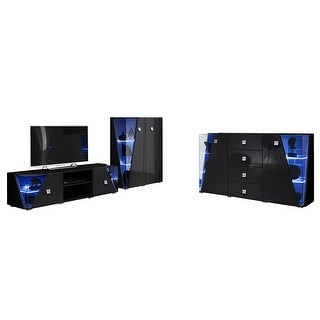 Link to Edge Set TV-CUR-SB Modern Wall Unit Entertainment Center Similar Items in Entertainment Units