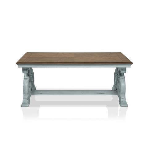 Furniture of America Roah Transitional Dark Oak Wood Coffee Table