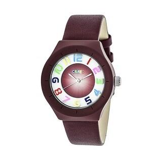 Crayo Atomic Unisex Quartz Watch, Genuine Leather Band