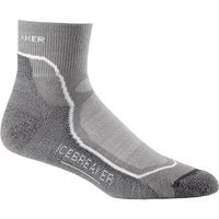 6a845dad0 Icebreaker Men's Hike+ Lite Mini Sock 100327 (2 Pairs) Fossil/White/Monsoon