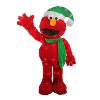 "Shop 18"" Pre-Lit 3D Sesame Street Waving Elmo Christmas ..."