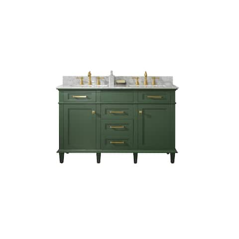 Legion Furniture 54-inch Vogue Green Double Sink Vanity