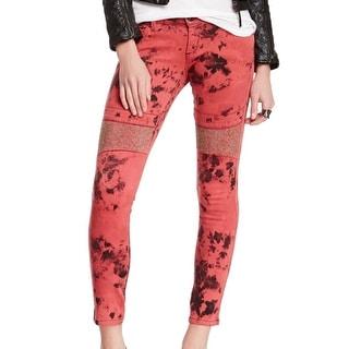 James Jeans NEW Red Women's 30X29 Embellished Slim Skinny Jagger Jeans