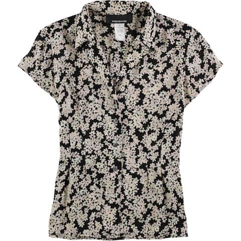 Jones New York Womens Silk Button Down Blouse