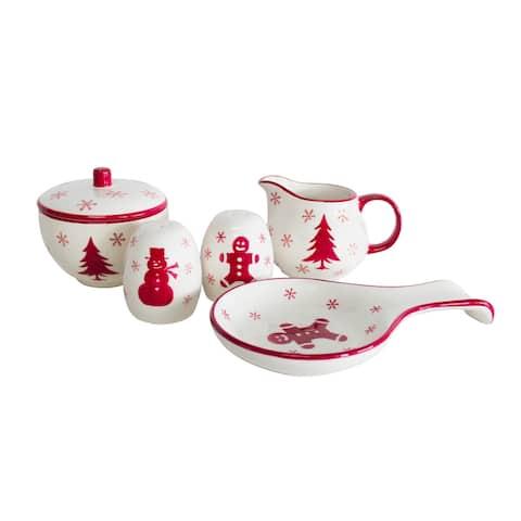 Euro Ceramica Winterfest 5 Piece Accessory Set