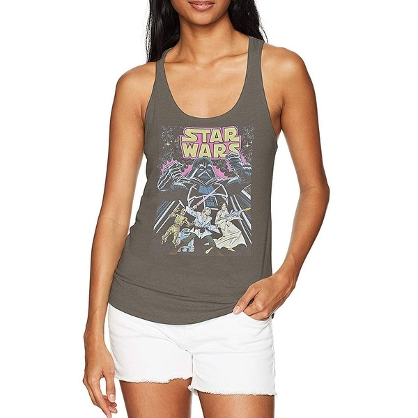 0ce42c503cb488 Shop Star Wars Gray Women s Size XXL Plus Comic Cover Racerback Tank Top -  Free Shipping On Orders Over  45 - Overstock - 27978638